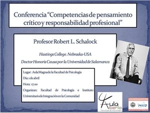 Cartel de la conferencia de Schalock