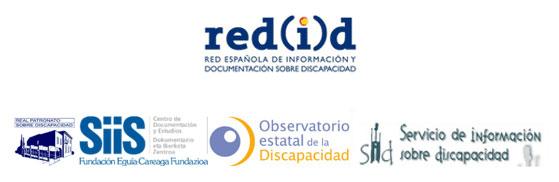 Logotipos de los responsables de la Revista Española sobre Discapacidad